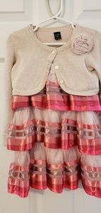 Baby Gap 2T tiered sleeveless dress with jacket